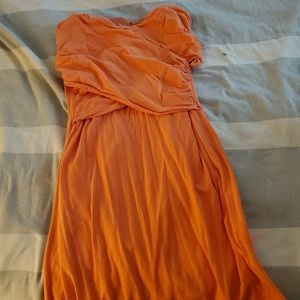 Creamsicle cotton dress